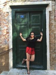 Holding the door in Nafplio, Greece
