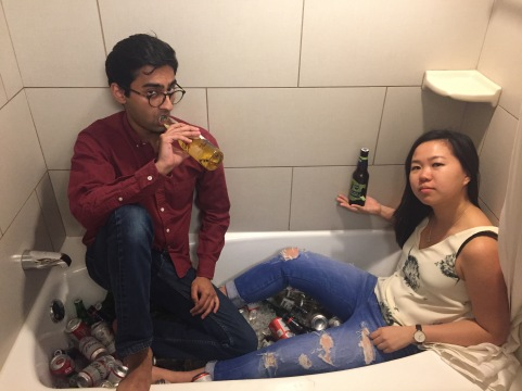 A more accurate depiction of the type of sophisticated drinking that goes on in college dorms...
